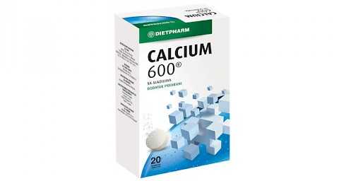 Calcium 600 šumeće tablete