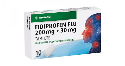 Fidiprofen flu 200 mg + 30 mg tablete